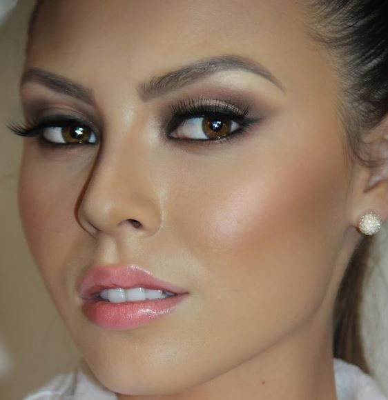 Wedding makeup for brunettes with brown eyes