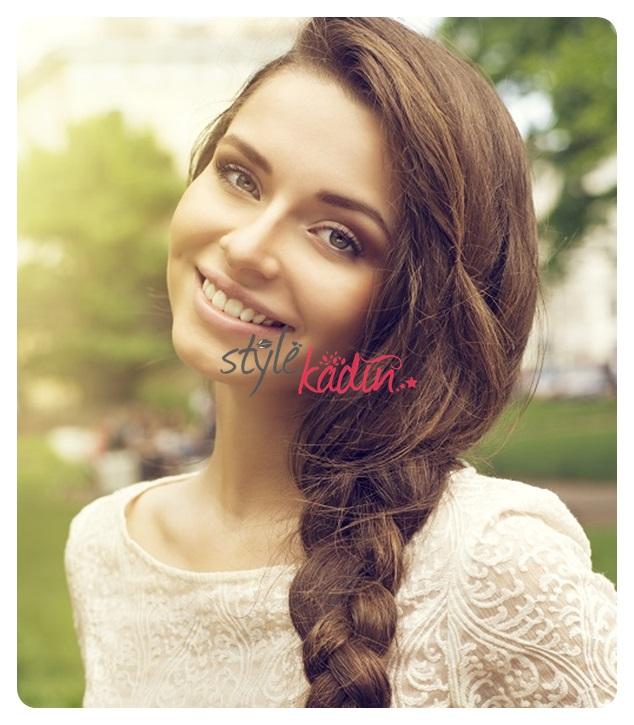 pretty stylish girl with braid