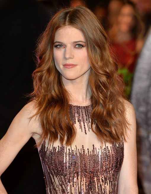 "LONDON, ENGLAND - OCTOBER 19: Rose Leslie attends the UK Premiere of ""The Last Witch Hunter"" at Empire Leicester Square on October 19, 2015 in London, England. (Photo by Anthony Harvey/Getty Images)"