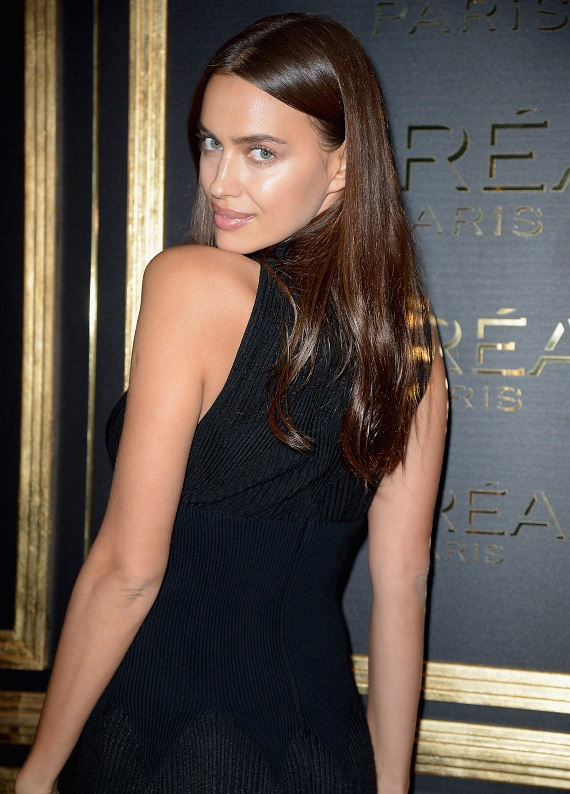 PARIS, FRANCE - OCTOBER 02:  Irina Shayk attends attends the L'OreAL Gold Obsession Party as part of the Paris Fashion Week Womenswear Spring/Summer 2017 on October 2, 2016 in Paris, France.  (Photo by Dominique Charriau/WireImage)